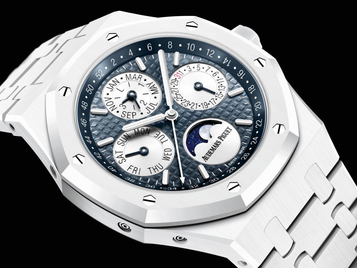 Cheap Replica Audemars Piguet Royal Oak Perpetual Calendar White Ceramic Watch